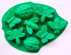 "Picture of Silicone mold ""Bugs on the leaf"""