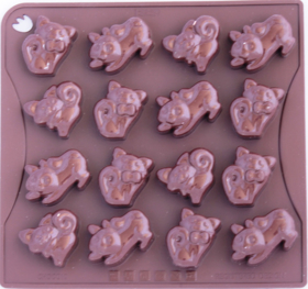 """Picture of Silicone mold """"Kitties"""""""