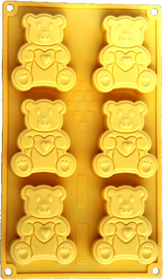 "Picture of SIlicone mold ""Little bears"""